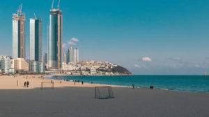 пляж в пусане