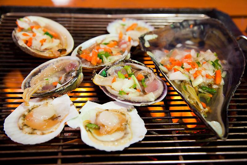 korean food clam